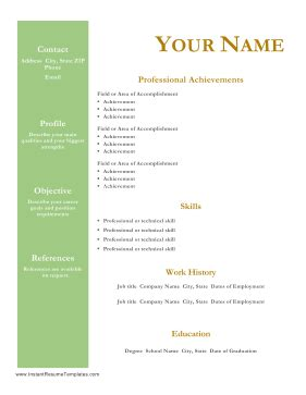 7 Resume Profile Examples Sample Templates